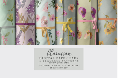 Seamless Patterns Collection Scrapbook Paper Digital Background Printa