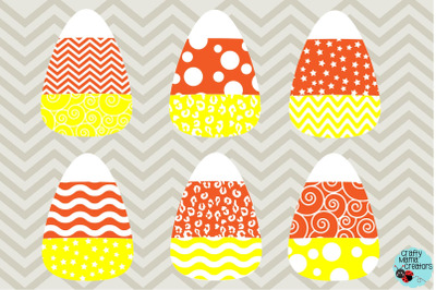 Candy Corn SVG, Halloween Svg, Chevron Candy Corn, Polka Dot