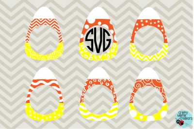Candy Corn SVG, Halloween Svg, Candy Corn Monogram Svg