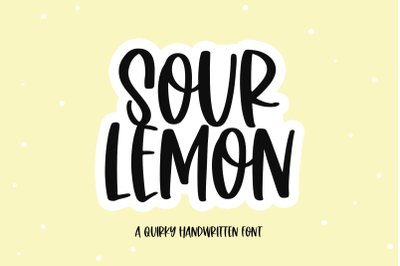 Sour Lemon - Quirky Handwritten Font