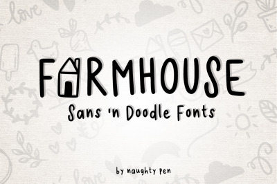 Farmhouse Sans and Doodle Font