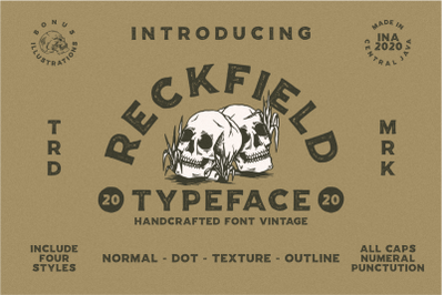 Reckfield Rough Typeface