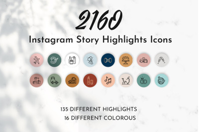 2160 Instagram Story Highlight Icons