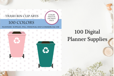 100 Garbage clipart, Trash clip art, Recycling clipart, House chores, Cleaning planner sticker