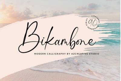 Bikambone - Modern Calligraphy Font