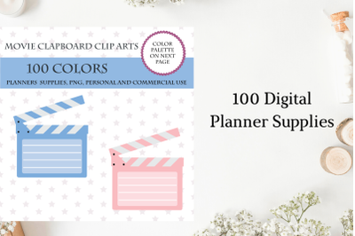 100 Movie Clapboard clipart, Movie theater clipart, Movie stickers, Cinem sign