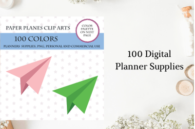 100 Paper Airplane clipart, Paper Airplane stickers, Paper planes
