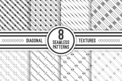 Geometric diagonal seamless patterns