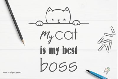 My cat is my best boss SVG Illustration