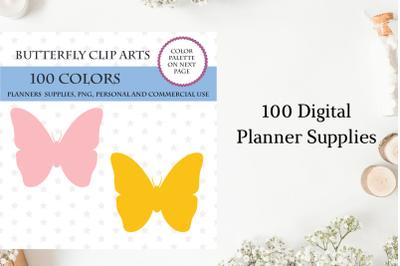 100 Butterfly clipart, Butterfly stickers, Butterfly clip art