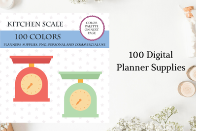 100 Kitchen Scale Clipart, Food art digital, Kitchen utensils clip art
