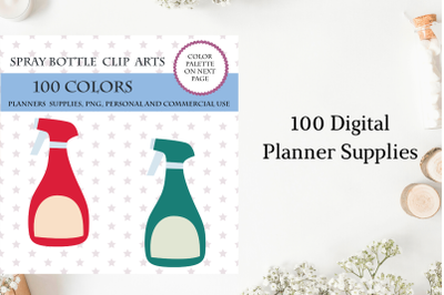 100 Spray Bottle Clip Art, Cleaning clipart planner, Chores clipart