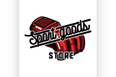 Color vintage sport goods emblem