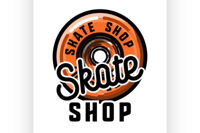 Color vintage skate shop emblem