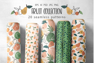 Fruit collection. 20 patterns.