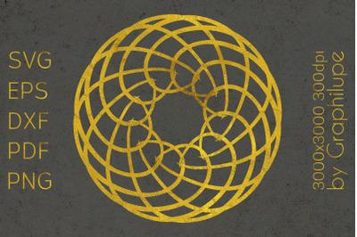 Simple Tribal Mandala cut file SVG no.2