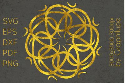 Simple Tribal Mandala cut file SVG no.3