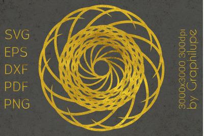 Simple Tribal Mandala cut file SVG no.4