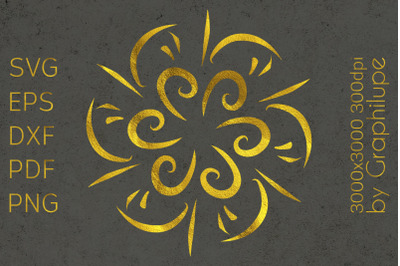 Simple Tribal Mandala cut file SVG no.5