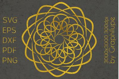 Simple Tribal Mandala cut file SVG no.6