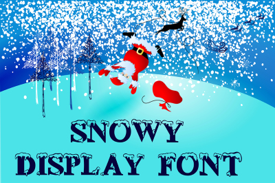 Snowy display font