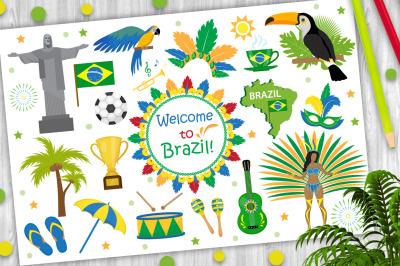 Brazilian carnival set