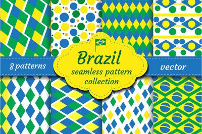 Brazil set of abstract geometric pattern