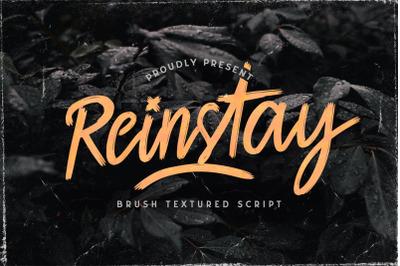 Reinstay - Brush Textured Script Font