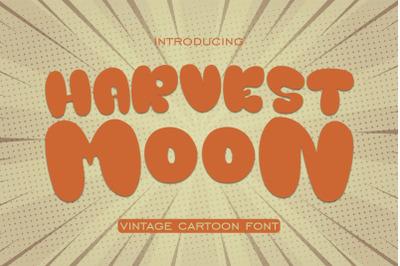 HARVEST MOON VINTAGE CARTOON FONT