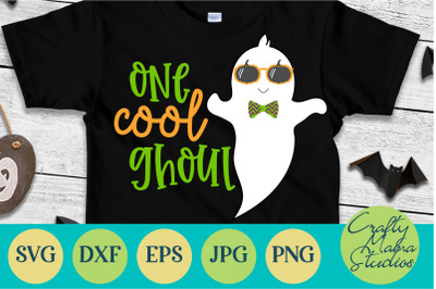 Ghost Svg, One Cool Ghoul Svg, Halloween Svg, Cool Ghost Svg
