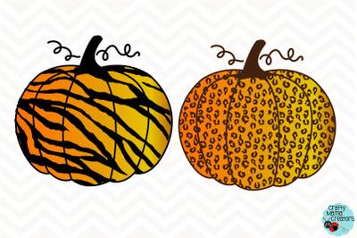 Pumpkin SVG, Leopard Print Pumpkin Zebra Print, Fall Pumpkin