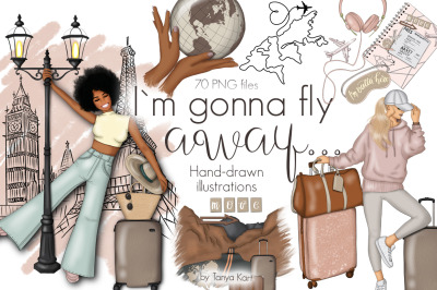I Am Gonna Fly Away Clipart & Pattern