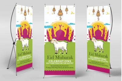 Eid Ul Azha Festival Roll Up Standee Banner