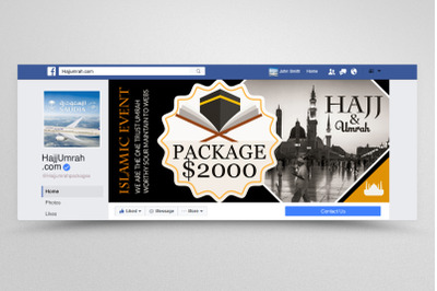 Hajj & Umrah Packages Facebook Banner