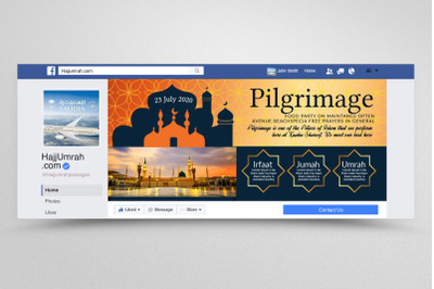 Hajj & Umrah Agency Facebook Banner
