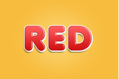 Red 3D Text Style Effect PSD