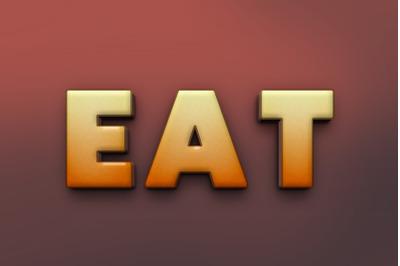 Eat 3D Text Effect PSD