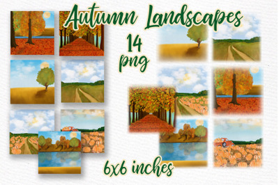Autumn backdrop Fall landscape Thanksgiving backdrop scenery