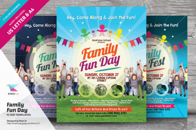 Family Fun Day Flyer Templates vol.01