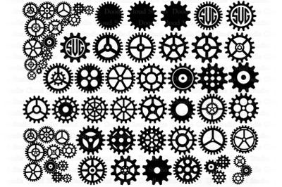 Cogs and Gears SVG, Gears Bundle SVG Cut Files, Steampunk Cog Gear.