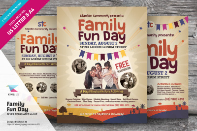 Family Fun Day Flyer Templates vol.02