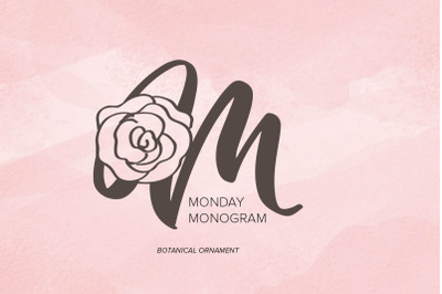 Monday Monogram Font