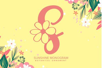 Sunshine Monogram Font