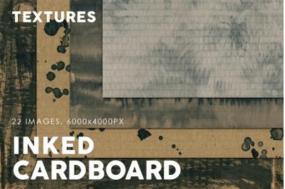 Inked Cardboard Textures