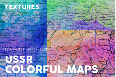 USSR Colorful Map Textures