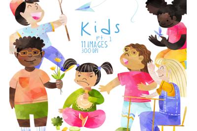 Watercolor Kids Set