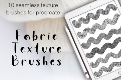 Fabric Texture seamless brushes for Procreate