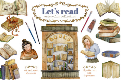 Let's read. Watercolor collection