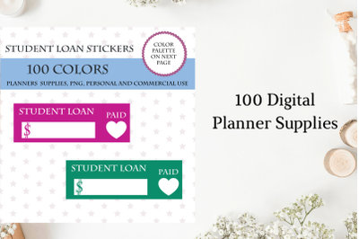Student Loan Planner Stickers, Student Loan Payment Planner Stickers