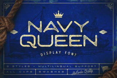 Navy Queen Display Font